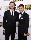 LOS ANGELES - JAN 16:  Jared Padalecki & Jensen Ackles arrives to the Critics' Choice Movie Awards 2