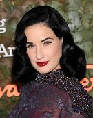 LOS ANGELES - OCT 17:  Dita Von Teese arrives to the Wallis Annenberg Center for the Performing Arts Gala  on October 17, 2013 in Beverly Hills, CA