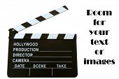 picture of clapper board  - A Genuine Hollywood Movie Clapper Board - JPG