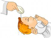 image of christening  - Illustration of a Little Girl Going Through a Catholic Baptism - JPG