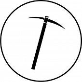 pick mattock tool symbol