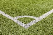 Perspective Corner On Soccer Field
