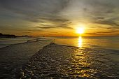 Sunrise Rabiate Golden On Water