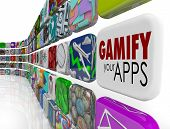 Gamify Your Apps words on an app tile encouraging you to add gamification to your online or digital