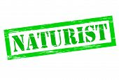 foto of naturist  - Stamp with word naturist inside vector illustration - JPG