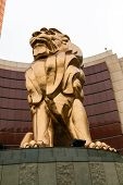 The lion statue near MGM