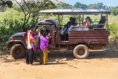YALA NATIONAL PARK, SRI LANKA - MARCH 4, 2014: Safari jeep tour in the Yala park. Yala is the second