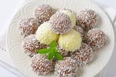 plate of coconut pralines