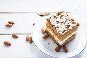Piece of almond cake.