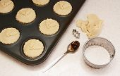 Uncooked Mince Pies In A Bun Tin