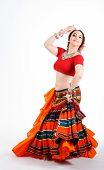 Beautiful Brunette Tribal Dancer