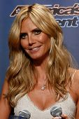 NEW YORK-JUL 30: Model Heidi Klum attends the 'America's Got Talent' post show red carpet at Radio City Music Hall on July 30, 2014 in New York City.