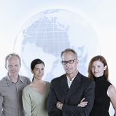 Business Team Globe