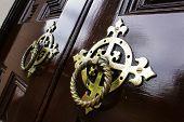 Old Metal Door Handle Knockers
