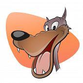 funny cartoon wolf