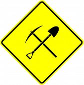 pick and shovel crossed symbol