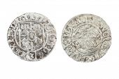 Poltorak - Polish siver coin of one and half grosz value in 17th century