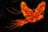 Phoenix In Space Art Background