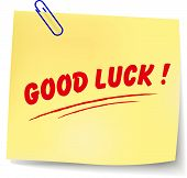 Vector Good Luck Message