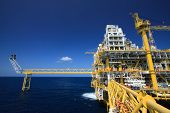 foto of petroleum  - Oil and gas platform in offshore industry - JPG
