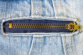 Brass Zip On Jeans Jacket