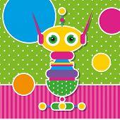 cute robot greeting card