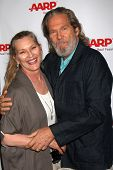 LOS ANGELES - AUG 1:  Susan Bridges, Jeff Bridges at the AARP Luncheon IHO Jeff Bridges at the Spago