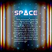 Space background with lightened corridor