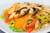 pic of sauteed  - Pad cashew nut with chicken sauteed white onions green onions carrots dried chili - JPG