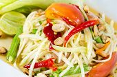 stock photo of green papaya salad  - Papaya Salad Thai call  - JPG