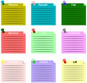 Sticky note vector text background