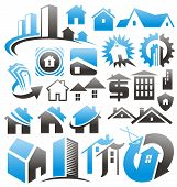 stock photo of household  - Set of house icons - JPG