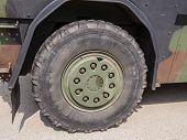 Wheel Of Military Vehicle