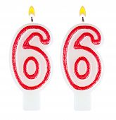 Birthday Candles Number Sixty Six