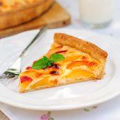 A Slice Of Peach Custard Pie