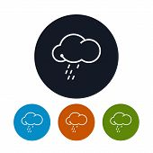 Icon cloud  with the rain ,   vector illustration