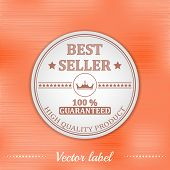 Best seller guaranteed label or badge