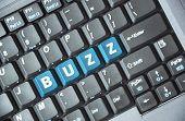 Blue buzz key on keyboard
