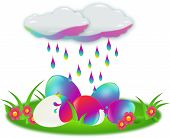 Eggs Colored By Rain