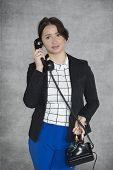 Businesswoman Leading Private Conversation