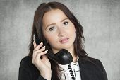 Beauty Businesswoman Talking On The Phone