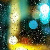 stock photo of rain-drop  - Drops on window - JPG