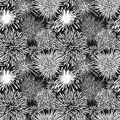 Seamless hand-drawn flower pattern