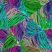 Seamless abstract doodle pattern