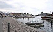 HELSINKI-AUGUST 23:Quay from Helsinki in Finland on august 23