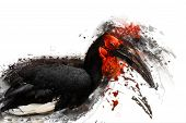 Exotic bird, abstract animal concept