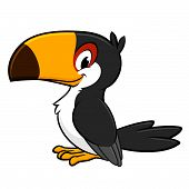 stock photo of toucan  - Vector illustration of a smiling toucan for design element - JPG