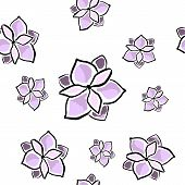 pic of magnolia  - Magnolia seamless pattern on white - JPG