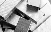 stock photo of staples  - Heap of staples - JPG