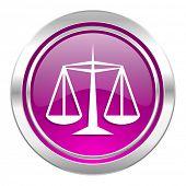 justice violet icon law sign